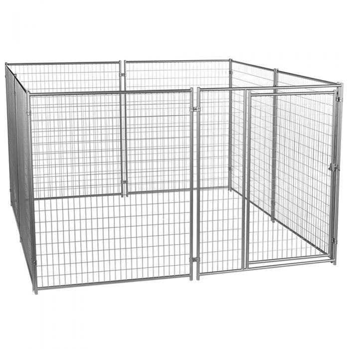 Lucky Dog® Silver Modular Welded Wire Kennel