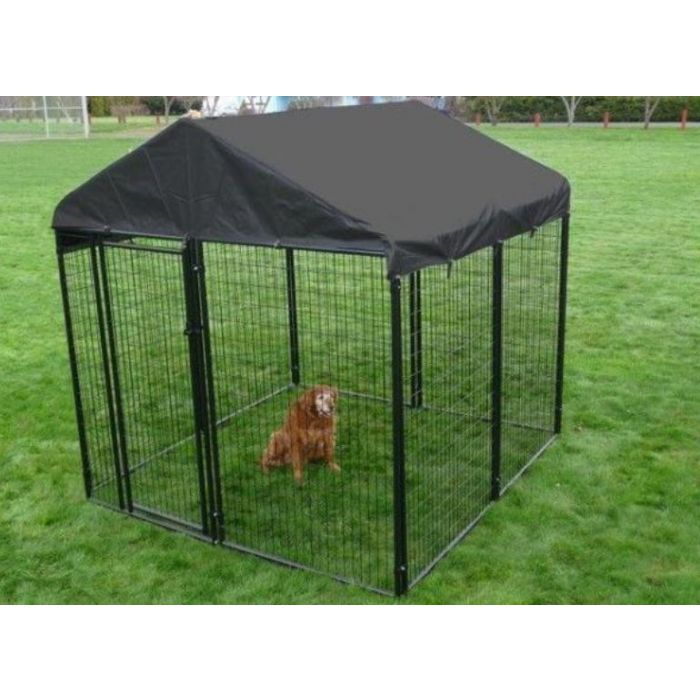 Lucky Dog® 10' x 10' Black Wire Kennel with Cover