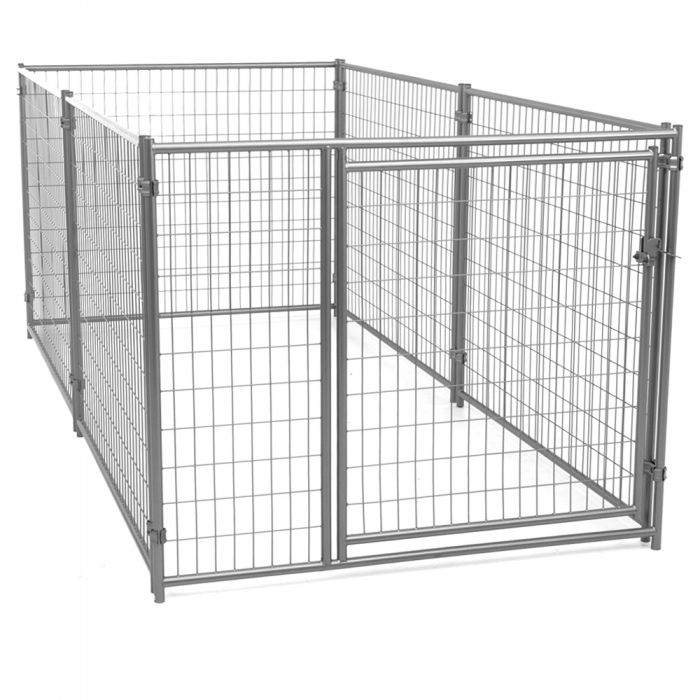 Lucky Dog™ 4'H x 5'W x 10'L  Silver Modular Welded Wire Kennel