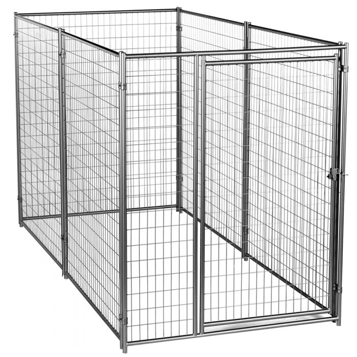 Lucky Dog™ 6'H x 5'W x 10'L  Silver Modular Welded Wire Kennel