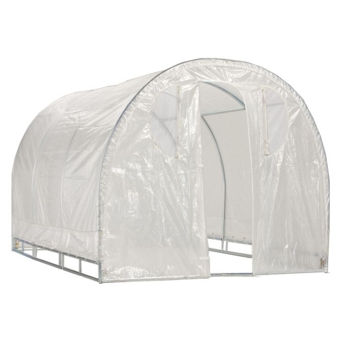 Weatherguard™ Round Top Greenhouse or Cover Set 6' x 8'