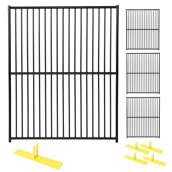 Perimeter Patrol™ Heavy Duty Portable Security Fence Panel Kit - European Style