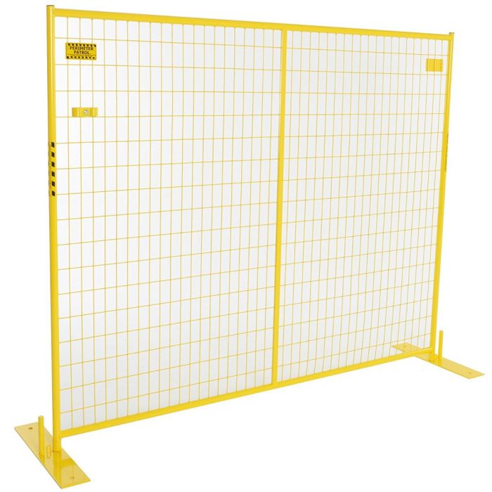 Perimeter Patrol™ Heavy Duty Portable Security Multi-Panel Fence Kits (Yellow)
