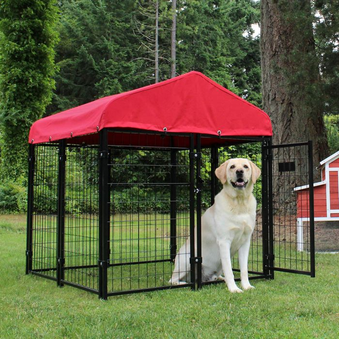 Lucky Dog Sunbrella® 4' x 4' Kennel Cover, Red