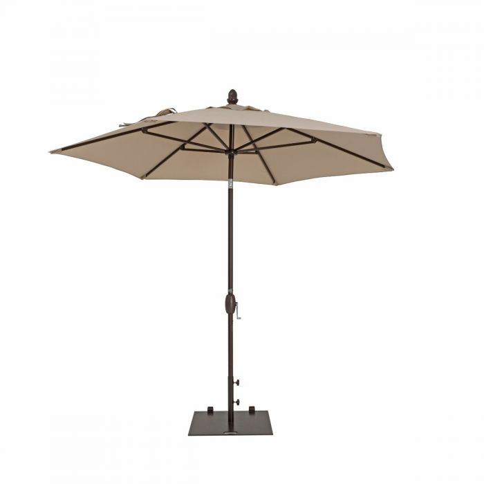 TrueShade Plus 9' Garden Parasol with Push Button Tilt and Crank