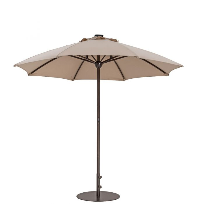 TrueShade Plus 9' Automatic Market Umbrella with Sunbrella® Fabric and Lights