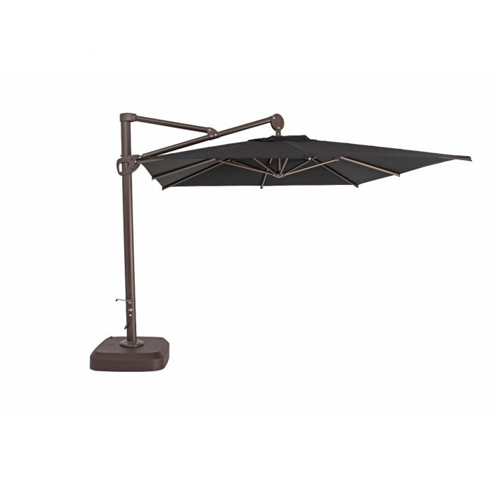 TrueShade Plus 10' x 10' Cantilever Square Umbrella with Sunbrella® Fabric