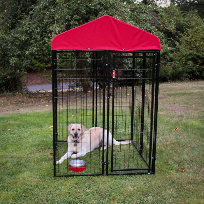 Lucky Dog® Uptown Kennel With Sunbrella Canopy Cover