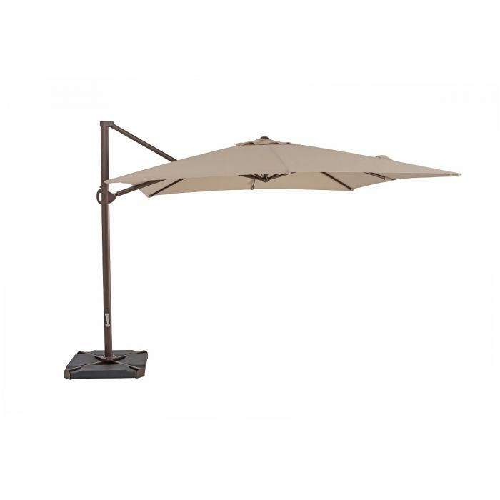 TrueShade Plus 10' x 10' Cantilever Square Umbrella